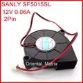 Frete Grátis 2 pcs 12 V 0.06A SANLY SF5015SL 50*50*15mm Ultra Silencioso Umidificador de Refrigeração Turbo fã