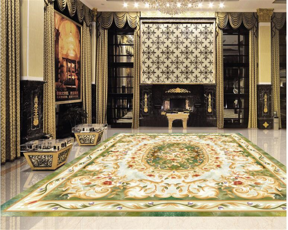 beibehang Personalized fashion wallpaper tiles parquet marble background wall European ceiling 3d flooring painting papier peint european carpet 3d flooring mural wallpaper marble parquet 3d stereoscopic wallpaper 3d floor paintingself adhesive wallpape