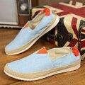Новая мода Мужская Обувь Британский Стиль На Лето Удобные Мужчины Квартиры Мокасины Обувь Причинной Мужская Обувь Плюс Размер 39-44 p5c3c-1