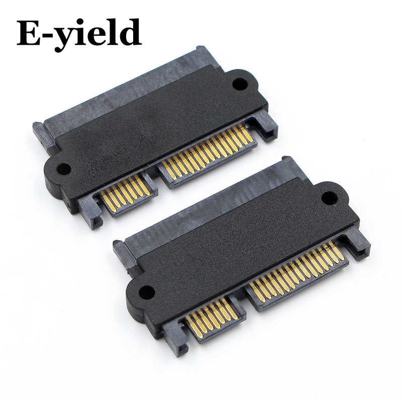 E-yield SATA 22 Pin 7+15 Pin Male Plug to SATA 22P 7+15P Female Jack Convertor Adapter юбка marina yachting marina yachting ma999ewqrm10