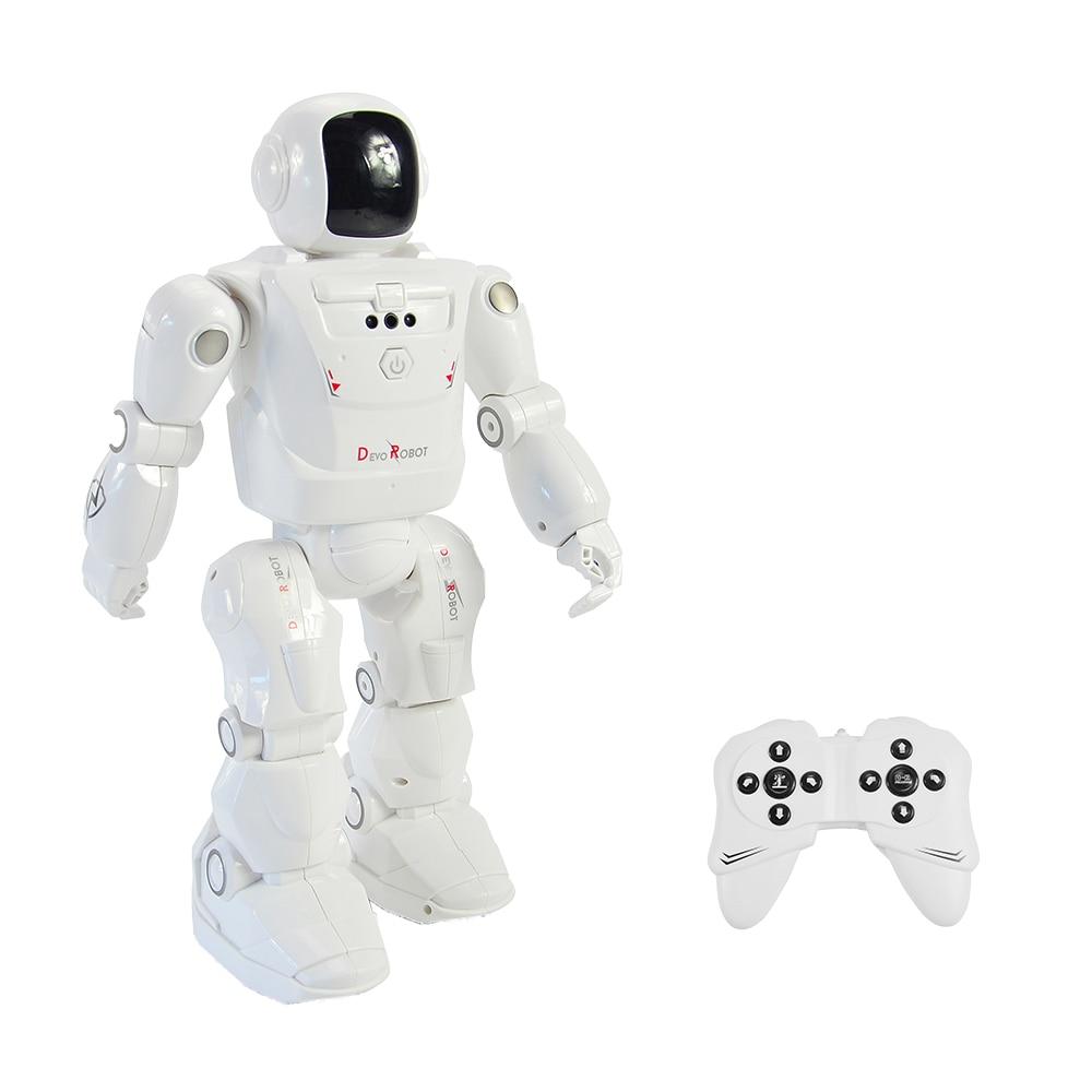 Robot RC leader RC2108 Mode de danse intelligente Actions programmables contrôlées par mouvement sons de lumière du visage jouets RC pour enfants