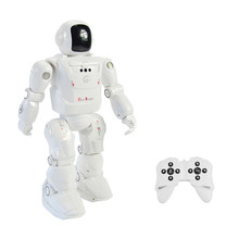RC Robot Leading RC2108 Smart Dancing Mode Motion Controlled Programmable Actions Facial Light Sounds RC Toys for Children(China)