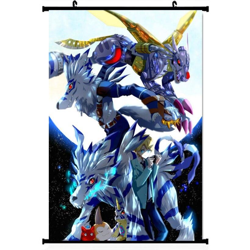 Digimon Adventure Tri Gabumon Omegamon Anime Silk Poster Wall Scroll