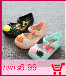 Mini sed girl sandals 2019 hot sale plain rain boot baby summer jelly  pineapple fruit children toddler kids shoes zapatos e515d2fb3244