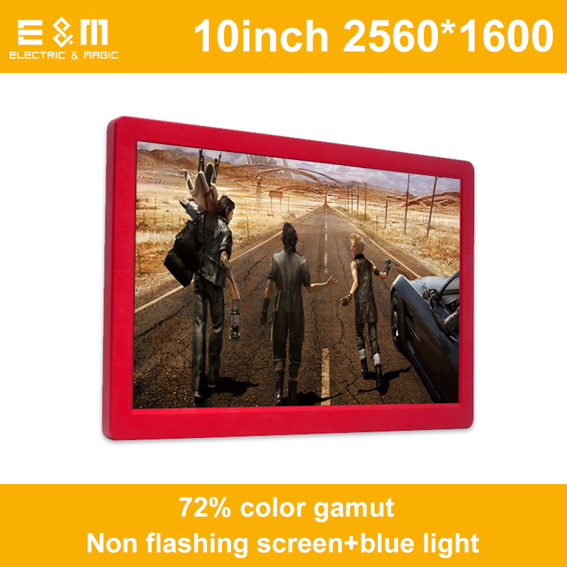 10 Inch IPS Full Angle 2K HD 60Hz Portable Monitor For Game Ps3 Ps4 Xbox NS HDMI 2560 * 1600 USB 5V Power