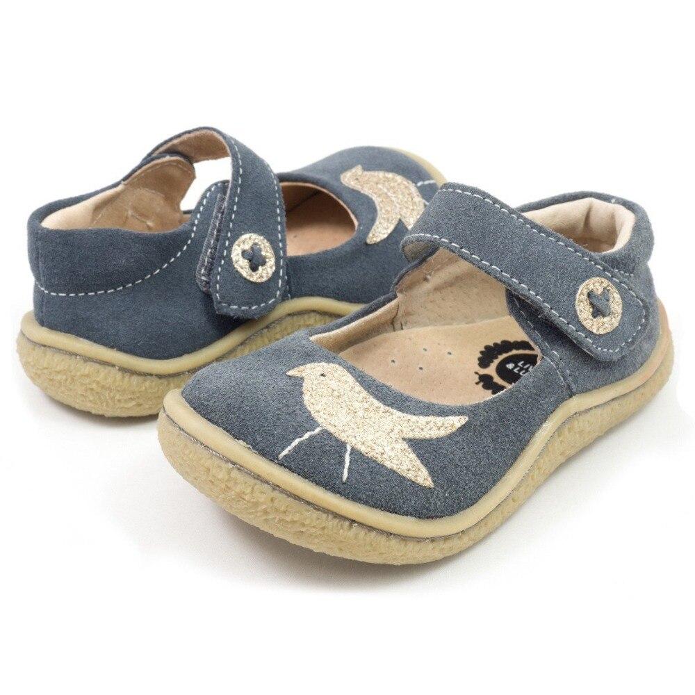 TipsieToes superior calidad de marca de cuero genuino niños niño niña niños zapatos de moda pies descalzos zapatillas Mary Jane envío gratis - 5