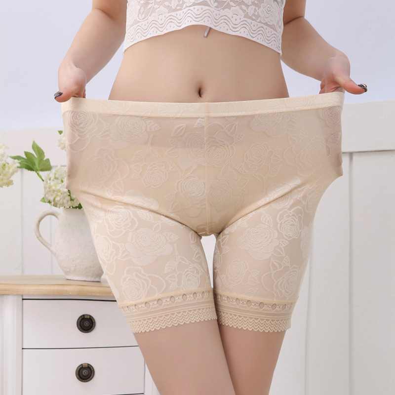 4Pcs/lot Summer Style Plus Size 6XL  Sexy Lace Shorts Women Short Soft Security  Anti-Lugging Underwears