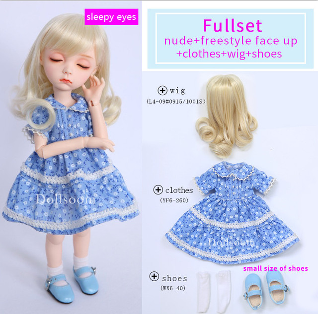 AImd 3.0 Colette Sleeping Head 1/6 BJD SD Doll Body Girls