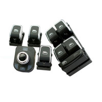COSTLYSEED Chrome Master Window Switch + Rear Mirror Button + Window Switches For A4 B8 A5 Q5 4GD 959 851 8K0959855 8K0 959 565