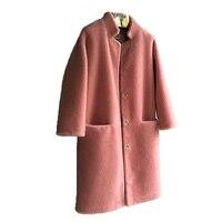New Design Women's Real Fur Coat Sheep Shearing Fur Teddy Coat with Stand Collar Winter Sheep Sheared Jacket sheepskin Coat