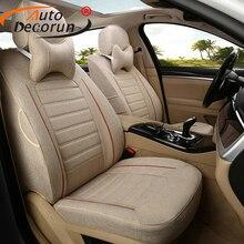 Autodecorun автомобиля наволочки для Mitsubishi Pajero 3 сиденья автомобили аксессуары льняной ткани автокресла поддерживает 18-23 шт./компл.