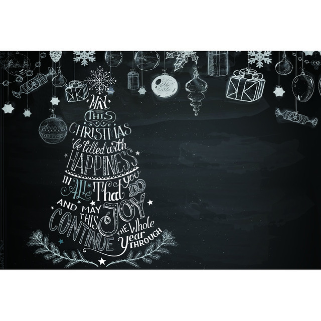 Thin Vinyl Photography Backdrop Cartoon Style Christmas Decorations