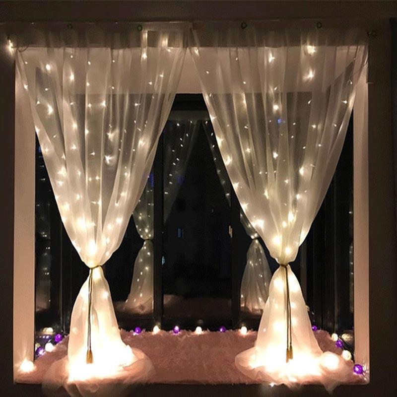 SPLEVISI 3x1m LED Icicle fairy String Lights Christmas led Wedding Party Fairy Lights Curtain IndoorDecor