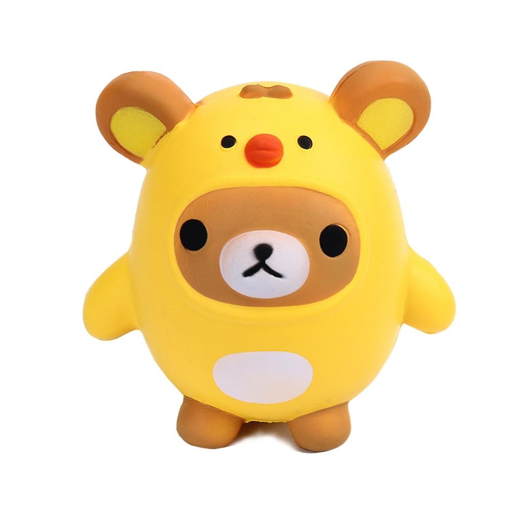 Jumbo Animal Penguin Kawaii Cute Cartoon Squishy Slow Rising Phone Straps Soft Bread Cake Kid Toy Gift TY340597