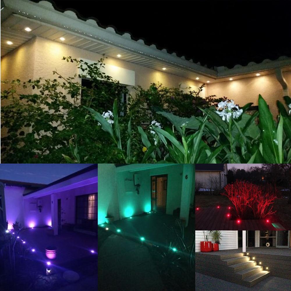 Image 5 - 10 ピース/セット 30 ミリメートル 12 V 屋外テラス LED デッキ階段レールライト防水庭経路パティオ景観ランプ    グループ上の ライト