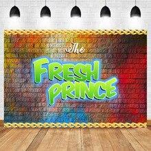 NeoBack Graffiti Brick Wall Baby Shower Photo Backdrop The Fresh Prince Custom Vinyl Background Studio