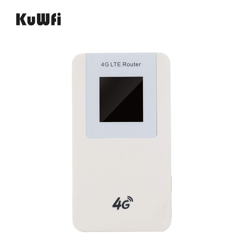 Image 2 - KuWfi Unlocked 4G LTE Wireless Router MiFi  4600mAh Power Bank WIFI Router Portable Wireless Modem With SIM Card Slot-in 3G/4G Routers from Computer & Office