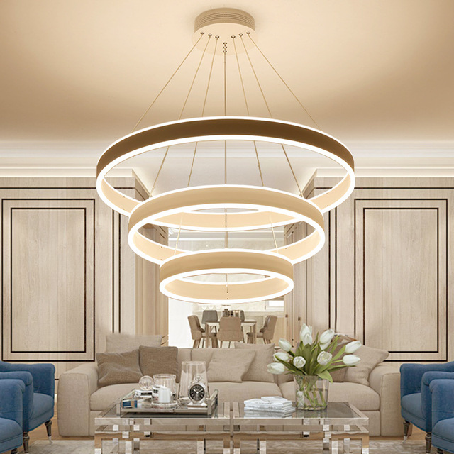 Remote Control Pendant Light Modern stepless dimming LED lighting for dinning room livingroom Acrylic Aluminum fixtures