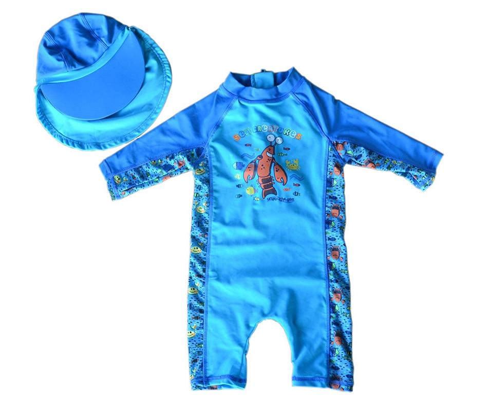 Bonverano(TM) Baby Boys' Sunsuit Swimwear UPF 50+ UV Protection S/S Zipper Blue Sea One Piece Swimwear Rashguard sbart upf50 rashguard 2 bodyboard 1006