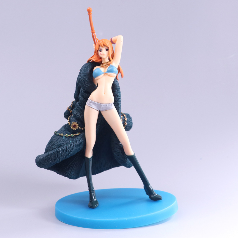 18cm Anime <font><b>One</b></font> <font><b>Piece</b></font> Nami Sexy Action Figure Toy Doll 20th Anniversary Collection <font><b>Ichiban</b></font> <font><b>Kuji</b></font> Model Brinquedos Figurals Gift image