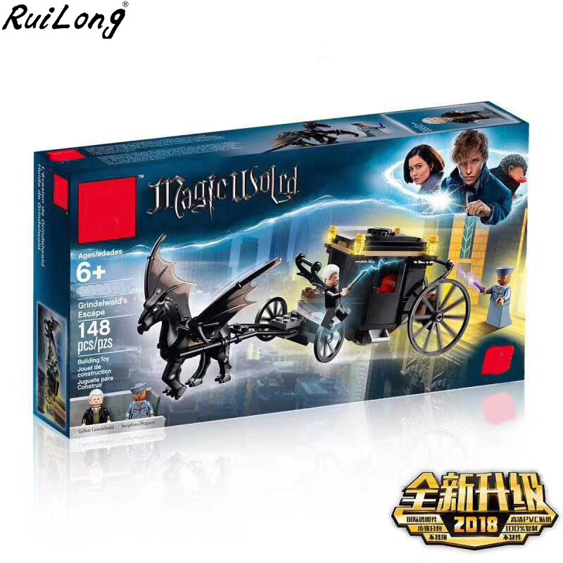 New Harry Potter Movie Grindelwald`s Escape Set Compatible Legoing Harry Potter 75951 Building Blocks Model Toys Christmas GiftsNew Harry Potter Movie Grindelwald`s Escape Set Compatible Legoing Harry Potter 75951 Building Blocks Model Toys Christmas Gifts