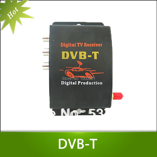 Car TV Tuner DVB-T MPEG-4 Digital TV BOX Receiver Mini TV Box Free shipping