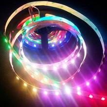 1M 60pcs/m RGB Pixel LED StripWS2812B WS2812 IC 5050 SMD LED Flexible Strip Pixel Light DC 5V Non-waterproof Black/White PCB