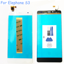 5.2'' Touchscreen For Elephone S3 Touch Panel Glass Touch Screen Digitizer Sensor Replacement For Umi8 Touch Screen+Tools+Tape