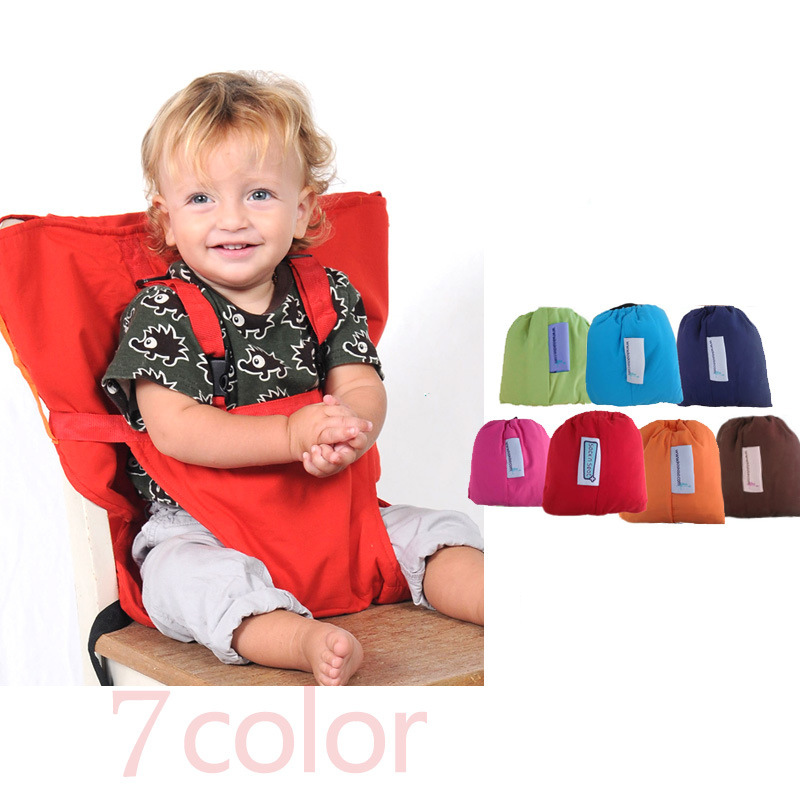 купить Baby Portable Seat Kids Chair Travel Foldable Washable Infant Dining High Dinning Cover Seat Safety Belt Feeding High Chair по цене 1231.43 рублей