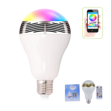 Phone APP Remote Control Wireless Bluetooth Speaker E27 LED Lights RGB for iPhone 5s 6s for Samsung Huawei Meizu OPPO Xiaomi LG