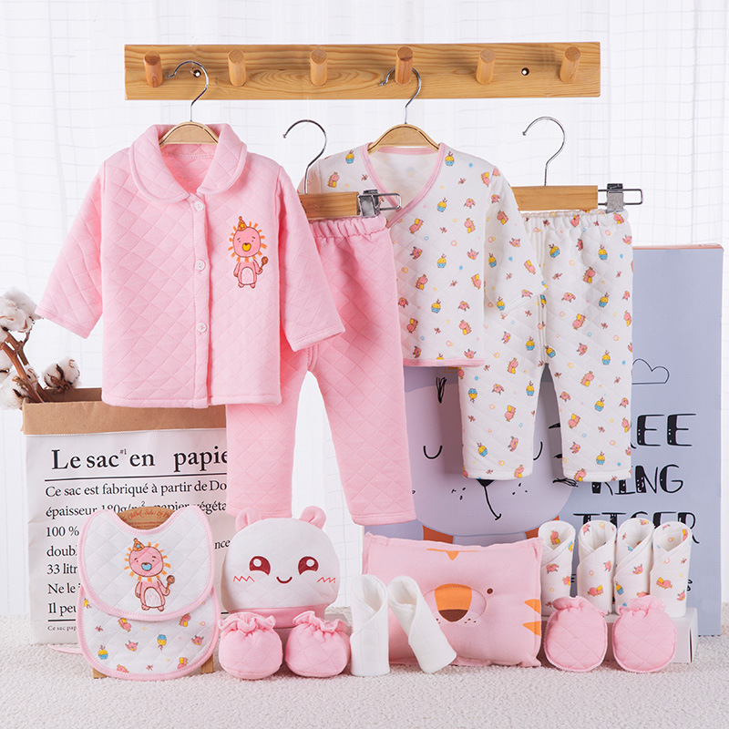 2019 Winter Thick C Baby Clothing Set Brand Baby Boy/Girl Clothes Set 100% Cotton New Born Baby Clothes Underwear 18PCS/set