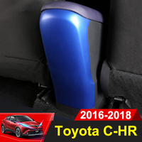 ABS Car Rear Armrest Box Panel Cover Children Anti Kick Protective Case For Toyota C HR C HR CHR 2016 2017 2018 2019 Accessories
