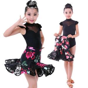 Image 1 - Conjunto de 2 uds. De vestido de Danza Latina para chicas, vestido de baile de salón, traje para competencia de baile chico s chico trajes de baile