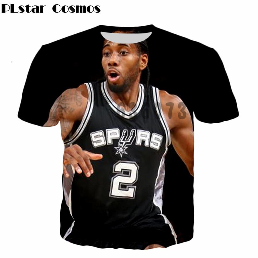 Design t shirt price - Plstar Cosmos 2017 Latest Design Summer Brand T Shirt Star Character Kawhi Leonard 3d Print Fashion
