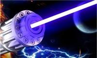 High Power Blue Laser Pointer 5000 mw 5 w 450nm Zaklamp Lazer Focus Branden Wedstrijd/Papier/Droog Hout/kaars/Sigaretten + Bril + Gift