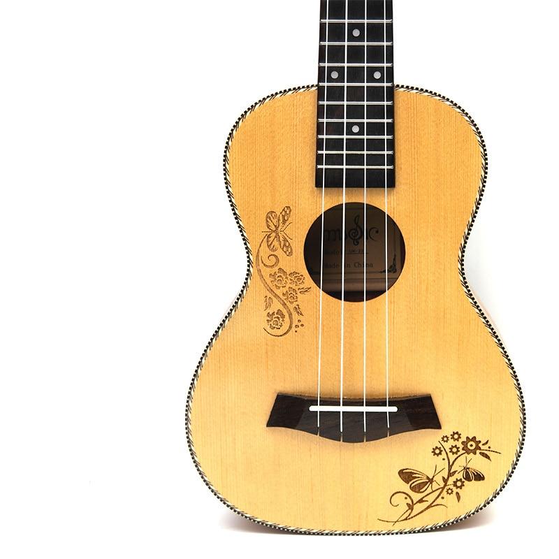 Afanti  Music 23 Inch Small Guitar / Picea Asperata / 23 Inch Ukulele (DGA-123)