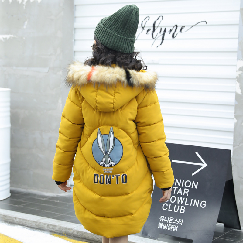 HYLKIDHUOSE 2018 Winter Girl Coat Female Children Long Jacket Warm Windproof Thicken Kid Parkas Outerwear Cotton-padded Jacket children new winter girl coat fashion hooded warm down jacket thicken girl cotton long parkas coat cotton outerwear