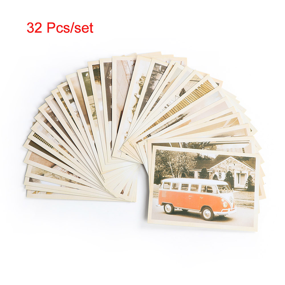 32 Pieces/Set Vintage Style Letter Paper Famous Building Postcards Souvenir US-Euro Travel Postcards School Office Stationery(China)