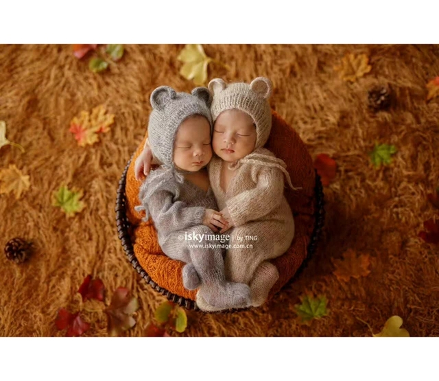 63de8b0523d Cut Animal Bonnet Baby Footed Romper Pants Baby Boy Outfit Jumpersuits  Infant Clothes Hooded Romper Bear Hat Newborn Girl Hat