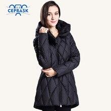 CEPRASK 2016 New Winter Jacket Women Plus Size  Fashionable Women's Winter Coat Hooded High Quality Warm Down Jacket Parka