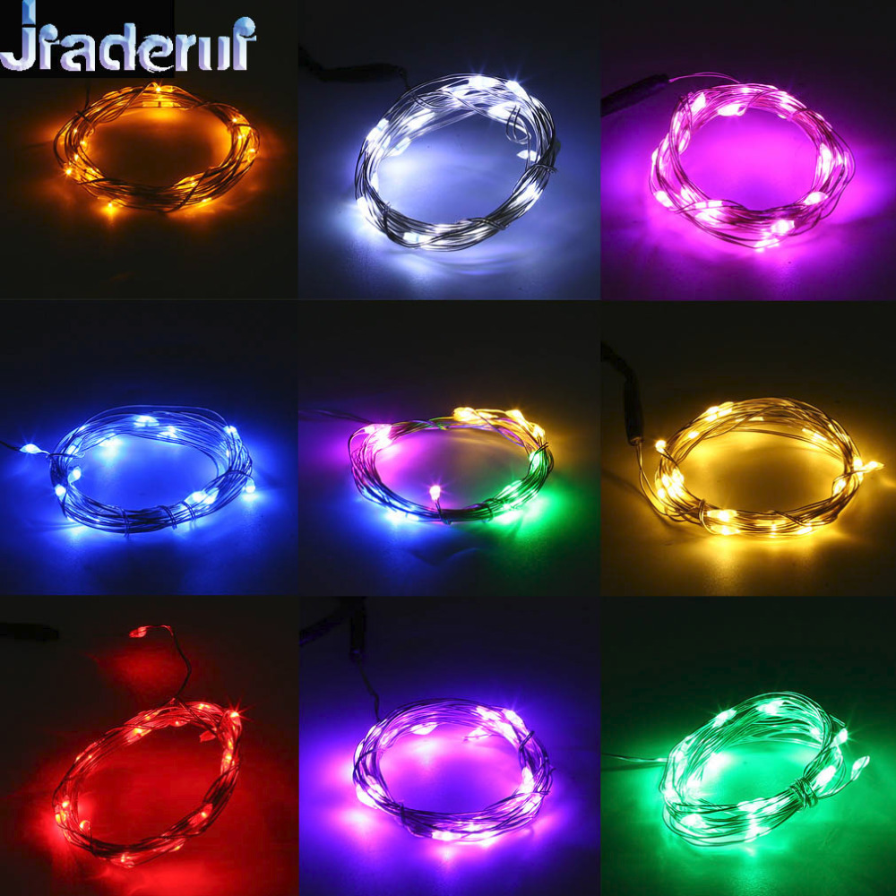 Jiaderui 1m 10Led 2m 20Led Waterproof IP66 USB Power LED Copper Wire Fairy String Lights Lamp for Xmas Wedding Party Decor DC5V
