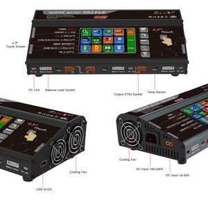 "Image 3 - איזון מטען HT206 AC/DC תלת לשלושה יציאת 200W * 3 20A 4.3 ""צבע LCD מסך מגע לlilon/LiPo/חיים/LiHV/Nicd/NiMh PB סוללה"