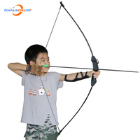 Archery 15lbs Recurve Bow For Children Archery Training Toy Games Kids Safe Outdoor Sports Practice With