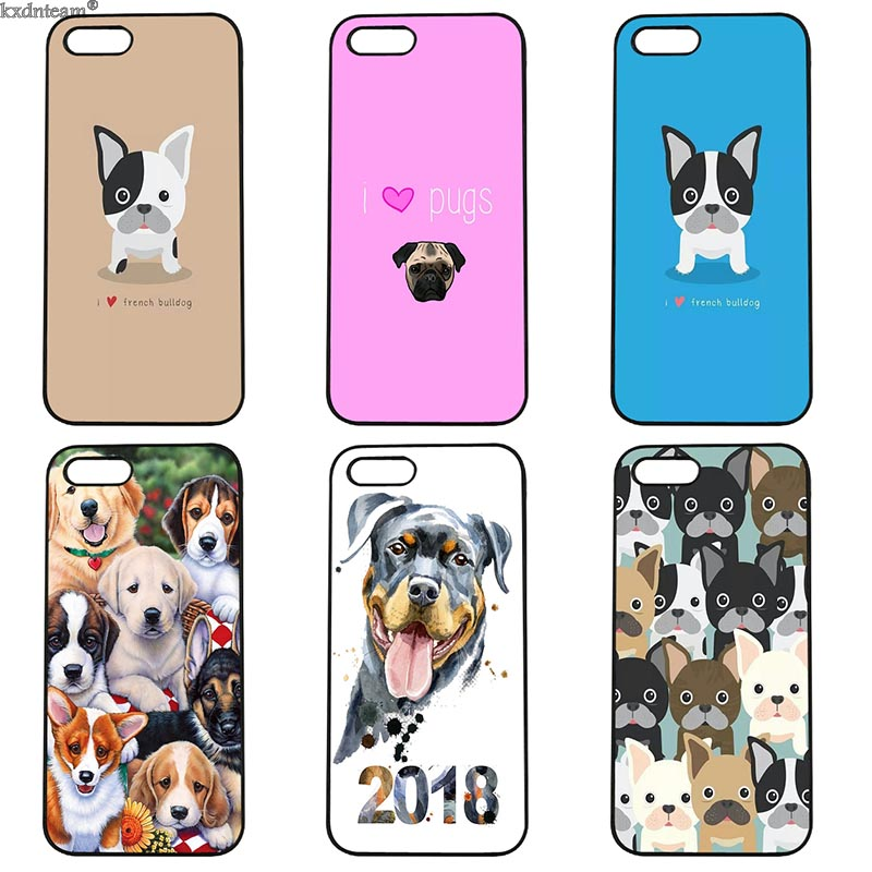 Funny Cute Pocket Dog Mobile Phone Case Hard PC Cover Fitted for iphone 8 7 6 6S Plus X 5S 5C 5 SE 4 4S iPod Touch 4 5 6 Shell