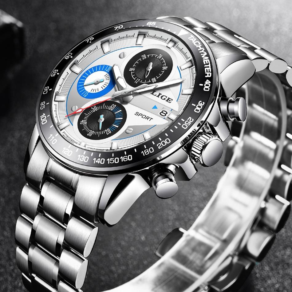 HTB1XCfYMMHqK1RjSZJnq6zNLpXaU LIGE Fashion Men Watches Male Creative Business Chronograph Quartz Clock Stainless Steel Waterproof Watch Men Relogio Masculino