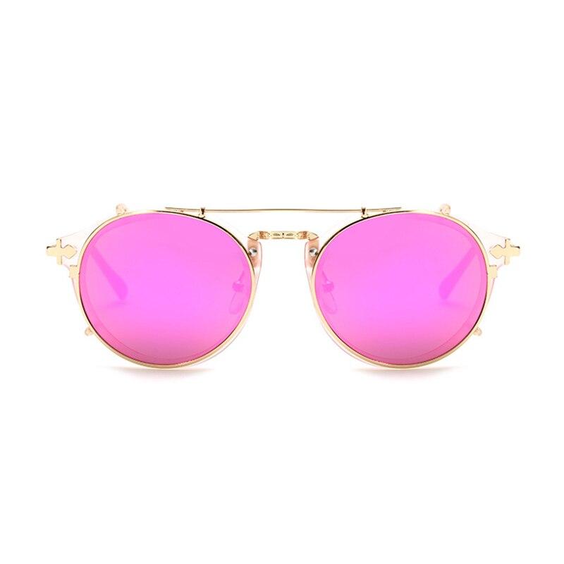 89fe40bf85 Aliexpress.com: Comprar Gafas de sol Kdeam Happy Clip On para hombre gafas  redondas desmontables Steampunk para mujer diseño tallado gafas de sol con  caja ...