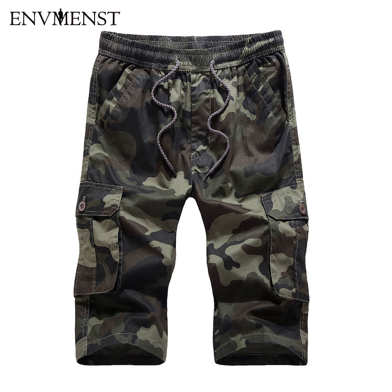 2017 Men Shorts Camouflage Cargo Military Shorts Men's Homme Outwear Cotton Loose Casual Army Short Pants Masculino boardshort