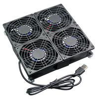 8025 Cooling Fan Heat Radiator USB 8cm DC 5V Power Ultra Silent Mining Rig Dissipate Temperature Control for ASUS GT/RT AC5300