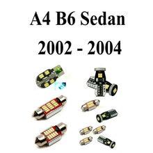 цена на LED Interior Car Lights For Audi a4 B6 Sedan 2002-2004 Error Canceling Dome Reading Visor Door  FootWell Trunk Glove Box 17pc