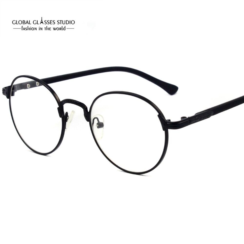 14b059322a434 Óculos Legal Rodada Do Vintage Estilo Retro Venda Óculos óculos Armações De  Metal de Alta Qualidade Por Atacado 9211